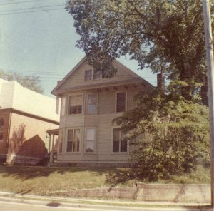 The old house on 12th Avenue S.E., Cedar Rapids, Iowa where we lived the first month of our marriage. No longer standing.
