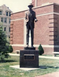 Jimmy Stewart Statue on the town square, Indiana, Pennsylvania