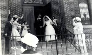 Our wedding day, April 25, 1964, Cedar Rapids, Iowa