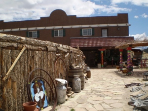 A work in process: a store in the shape and format of a fort! Fort Garland, Colorado