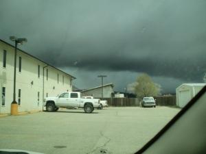 Hail storm in San Luis