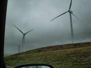 Wind generators along I-25