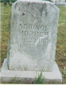 Adniram Hopper (1861-1929). Grave located in Fullerton Cemetery, Jasper County, Missouri