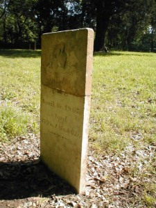 John Bass Jones (1838-1867). Grave at Moss Springs Cemetery, Jasper County, Missouri