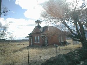 Old Schoolhouse at Nathrop, Colorado. Photo taken March 2007