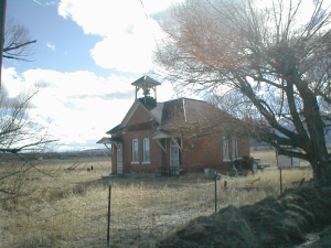 Old Schoolhouse at Nathrop, Colorado. Photo taken March 2007