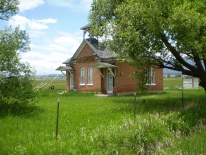 The old Nathrop schoolhouse, taken the last time I saw it--June 15 2009