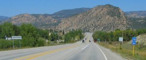 Approaching Nathrop, Colorado on Highway 285