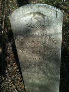 "Permilia/Parmelia ""Milly"" Greer Jones (1795-1875). Moss Springs Cemetery, Jasper County, Missouri."