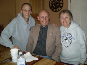 Brian, Howard, Barbara Beall, taken July 2014