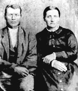 Joel Spence (1832-1896) and Martha Jane Hood (1828-1887)