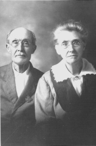 Joseph Washington Reed (1840-1925) and Matilda Chambers Scofield (1855-1926). Photo submitted to Ancestry.com by patriciareed47 Aug 15, 2011. Photo taken about 1910 in Kentucky