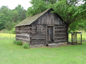 Replica of meeting house, Clear Fork Baptist Church Cemetery, Monticello, Kentucky. Photo shared on Ancestry.com by Carlinbrooks 16 Feb 2013.