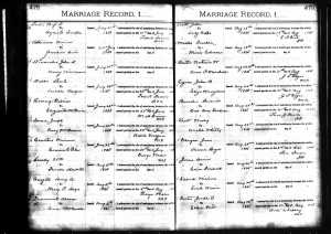 """Joseph Spence and Mary """"Polly McDaniel Marriage Record in Tennessee Marriages"""