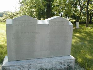 Lazarus and Adeline Spence Grave, Moss Springs, Cemetery. Photo Taken May 2002