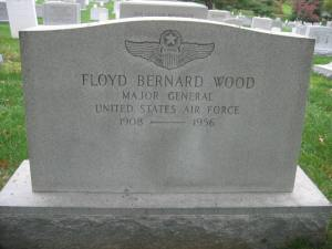 Maj. Gen. Floyd Bernard Wood (1908-1956), Arlington National Cemetery. Photo From Find-a-Grave