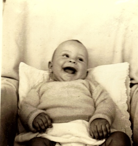 Howard Lee Beall at approximately six months of age. Taken summer 1938, Sykesville, Maryland