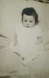 Barbara Ann Inman, taken at two months of age ca. July 1943, Cedar Rapids Iowa