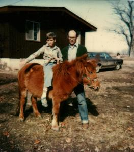 Brian, Howard and Red the pony--Taken Summer 1978
