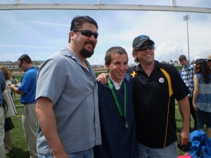 Dee, Jason and Brian at Jason's high school graduation May 2014