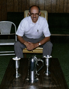 Communion set presented to Presbyterian Church by Col. Ninian Beall. Photo taken Summer 1992