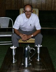 Communion set presented to Presbyterian Church by Col. Ninian Beall. Photo taken Summer 1992