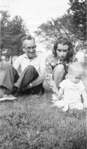 Three Generations: my dad Gordon Loren Inman (1908-1974), Brian and me. This was taken on one of our spring jaunts