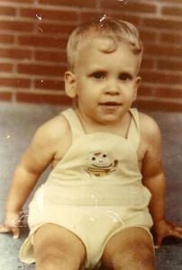 Brian sitting on our front porch in Bowling Green, Kentucky, June 1970