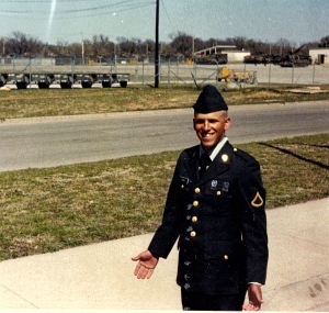 The day of Brian's graduation from Fort Sill, Oklahoma, 1996